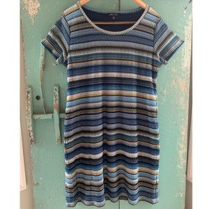 Adorable Threaded Patterned T shirt Dress